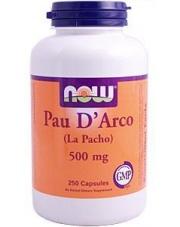 Pau D' Arco 500 mg ( La pacho, Ipe Roxo ) 250kaps.