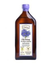 Olej lniany do diety dr Budwig 500 ml
