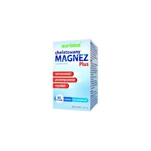 Magnez plus chelatowany x 60 tabl for Magnez w tabletkach