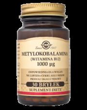 Metylokobalamina (Witamina B12) 1000 µg x 30 bryłek